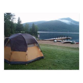 Camping on Blue Mountain Lake in the Adirondacks Postcard