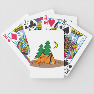 Camping Outside Bicycle Playing Cards