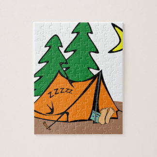 Camping Outside Jigsaw Puzzle
