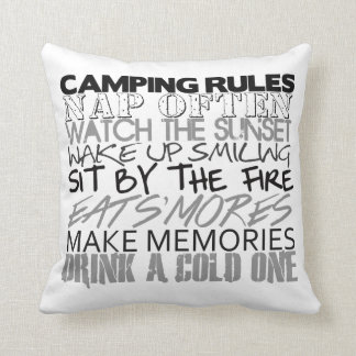 Camping Rules Pillow