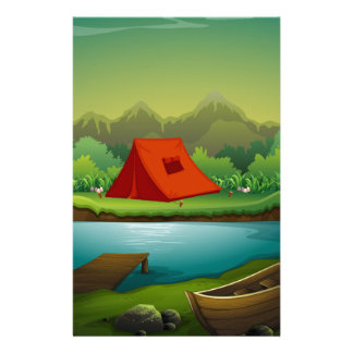 Camping site stationery design