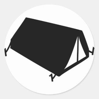 camping tend icon classic round sticker