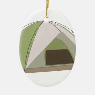 Camping Tent Ceramic Oval Decoration