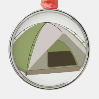 Camping Tent Silver-Colored Round Decoration