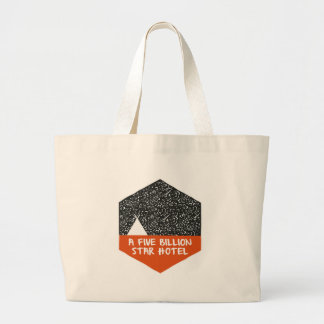 Camping under the stars large tote bag