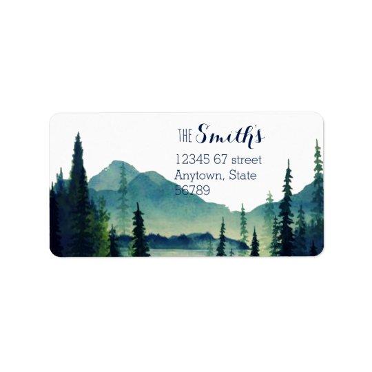 Camping Wedding Return Address Labels