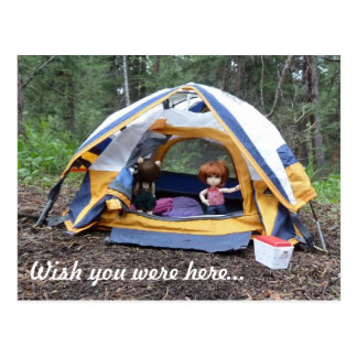 Camping with Miranda Postcard