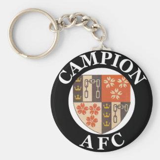 Campion AFC Basic Keyring Basic Round Button Key Ring