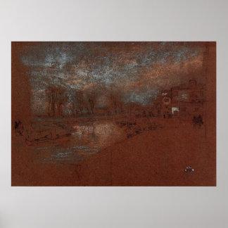 Campo Santa Marta, Winter Evening by Whistler Print