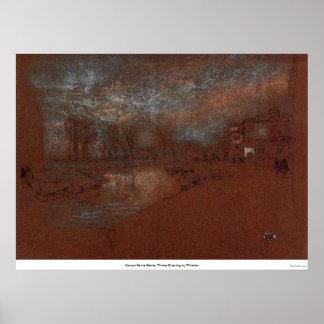 Campo Santa Marta, Winter Evening by Whistler Poster