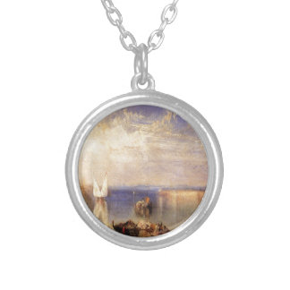 Campo Santo, Venice by William Turner Silver Plated Necklace
