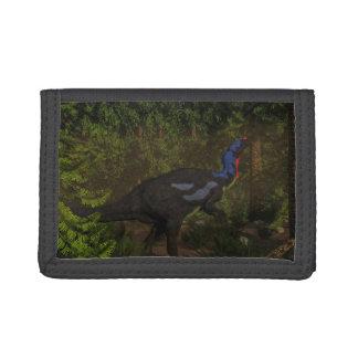 Camptosaurus dinosaur eating - 3D render Trifold Wallet