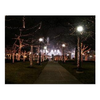Campus Martius - trees postcard