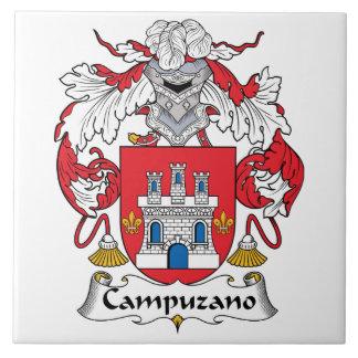 Campuzano Family Crest Ceramic Tile