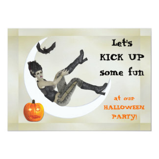 Campy Frankenstein Mama Halloween Party 13 Cm X 18 Cm Invitation Card