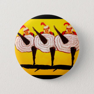 Can Can 6 Cm Round Badge