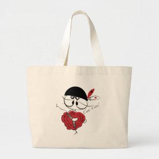 Can-Can dancer girl Jumbo Tote Bag