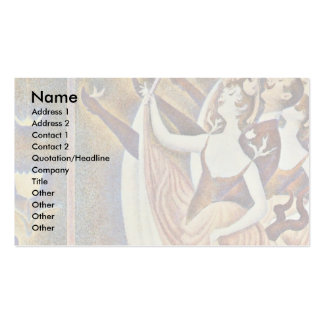 Can-Can (Le Chahut) By Seurat Georges Business Card Template