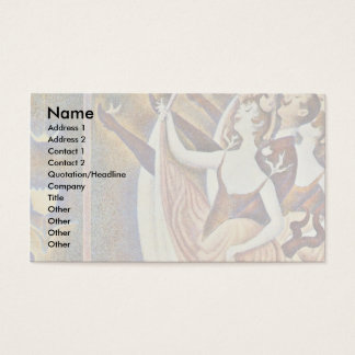 Can-Can (Le Chahut) By Seurat Georges Business Card