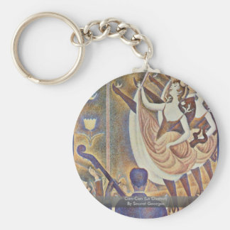 Can-Can (Le Chahut) By Seurat Georges Basic Round Button Key Ring