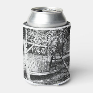 Can Cooler - Country Wooden Swing - Any Color