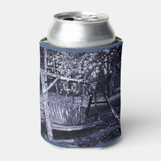 Can Cooler - Country Wooden Swing - Blue
