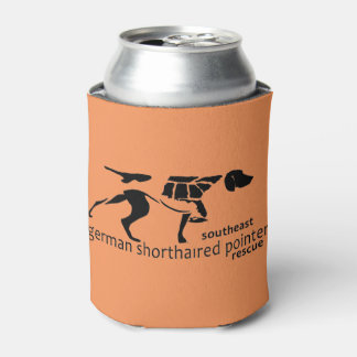 Can cooler (orange with b/w logo)