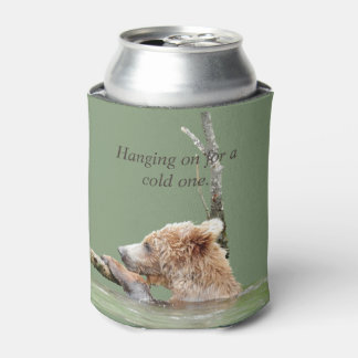 Can Cooler w/ grizzly bear cubs