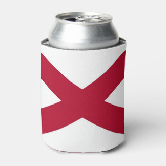 Can Cooler with flag of Alabama State, USA.