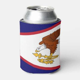 Can Cooler with flag of American Samoa, USA.