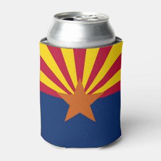 Can Cooler with flag of Arizona State, USA.