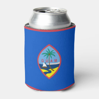 Can Cooler with flag of Guam, USA.