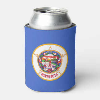 Can Cooler with flag of Minnesota State, USA.
