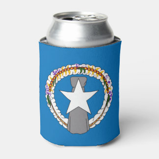 Can Cooler with flag of Northern Mariana, USA.