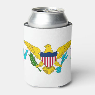 Can Cooler with flag of Virgin Islands, USA.
