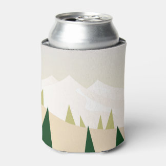 Can cooler with Mountains
