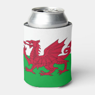 Can Cooler with Wales flag, United Kingdom