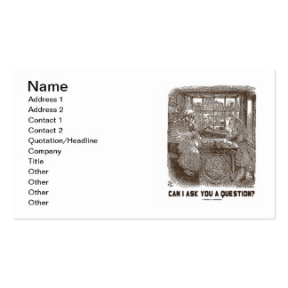 Can I Ask You A Question? (Alice Sheep) Pack Of Standard Business Cards