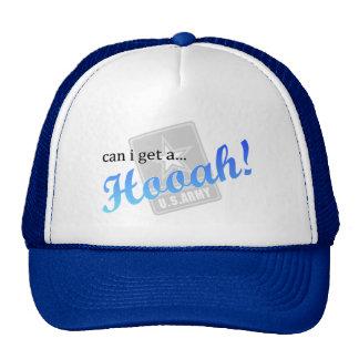 can i get a...Hooah! (blue) Trucker Hat