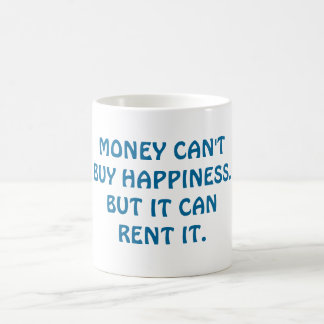 Can Money Buy Happiness? Basic White Mug