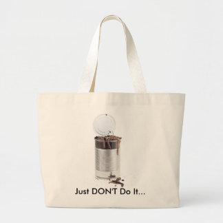 Can of worms jumbo tote bag