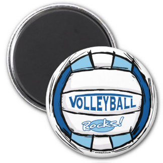 Can U Dig It Volleyball Blue Lt Blue 6 Cm Round Magnet