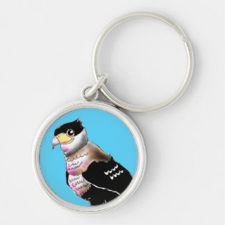 Can unreasonable caracara Silver-Colored round key ring