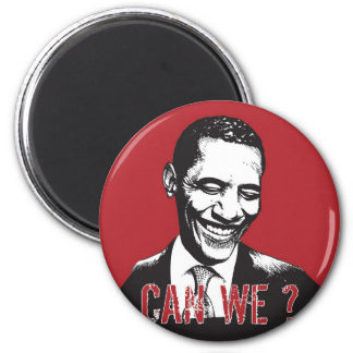 Can We? 6 Cm Round Magnet