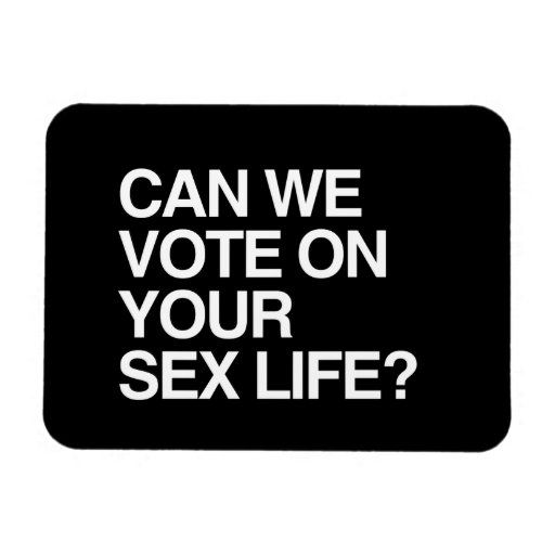 CAN WE VOTE ON YOUR SEX LIFE RECTANGULAR MAGNET