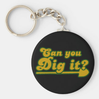 Can you Dig it Retro Key Ring