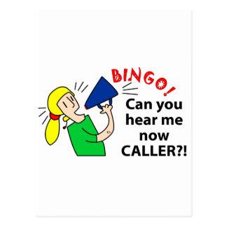 Can you hear me now bingo caller? postcard