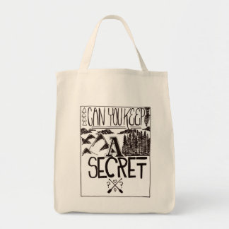 Can You Keep A Secret Grocery Tote Bag