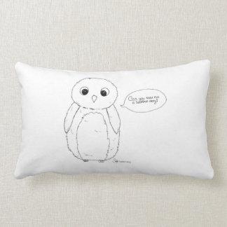 Can you read me a bedtime story? owl kudde. lumbar cushion
