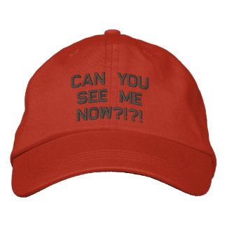can you see me embroidered hat